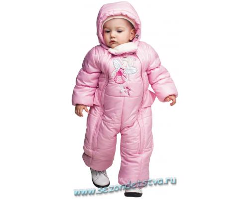 Демисезонный розовый комбинезон Орби 62300 для девочки