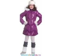 Пальто сливовое