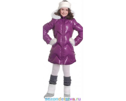 Пальто сливовое 8941 Orby