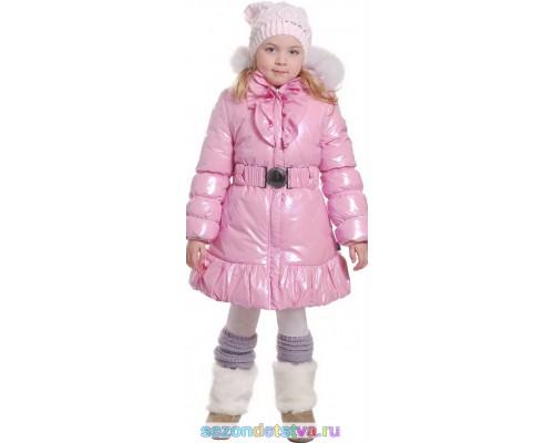 Пальто розовое 8961 Orby
